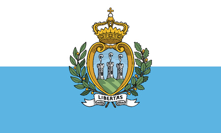 Detailed Illustration National Flag San Marino 일러스트