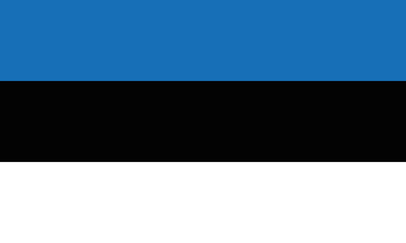 Detailed Illustration National Flag Estonia