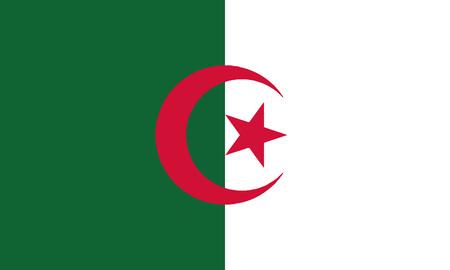 Detailed Illustration National Flag Algeria