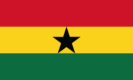 Detailed Illustration National Flag Ghana Çizim