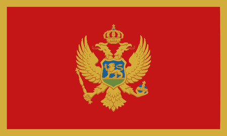 Detailed Illustration National Flag Montenegro