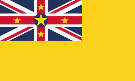 Detailed Illustration National Flag Niue