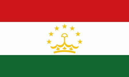 Detailed Illustration National Flag Tajikistan Illustration