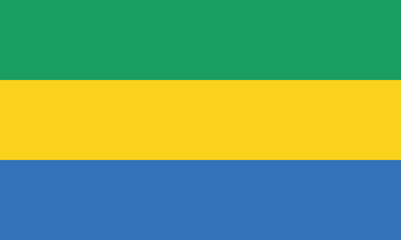 Detailed Illustration National Flag Gabon 일러스트