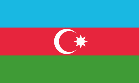 Detailed Illustration National Flag Azerbaijan