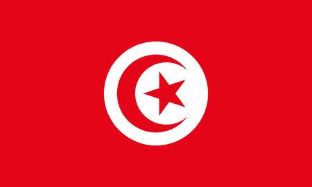 Detailed Illustration National Flag Tunisia