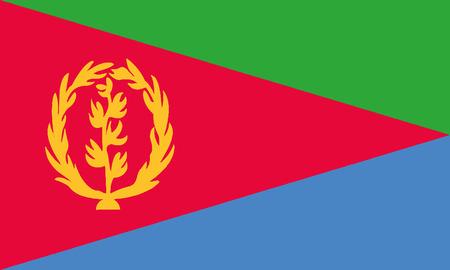 Detailed Illustration National Flag Eritrea