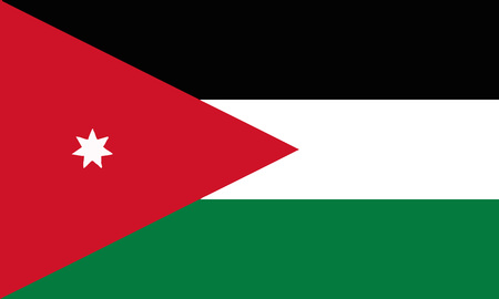 Detailed Illustration National Flag Jordan 일러스트