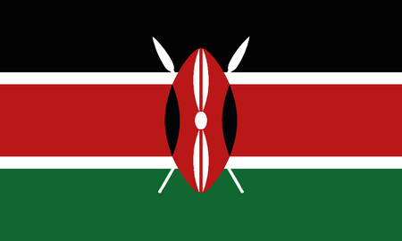 Detailed Illustration National Flag Kenya