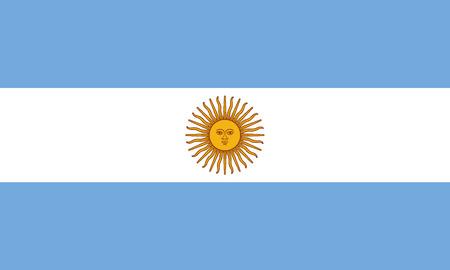 Detailed Illustration National Flag Argentinia