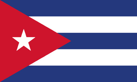 Detailed Illustration National Flag Cuba