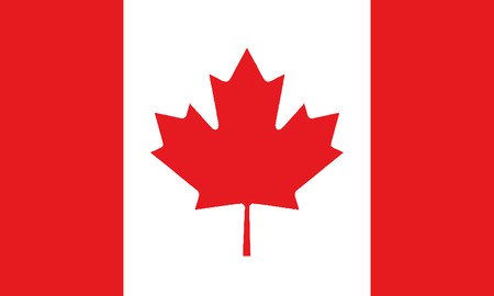 Detailed Illustration National Flag Canada