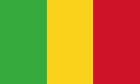 Detailed Illustration National Flag Mali