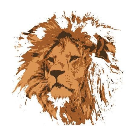 Creatieve tekening leeuw. Kunst inspireert mensen. Deze tekening van een leeuw is een geweldig ontwerp voor de grafische vormgeving. Artistiek geïnspireerd op de illustratie. Vector Illustratie