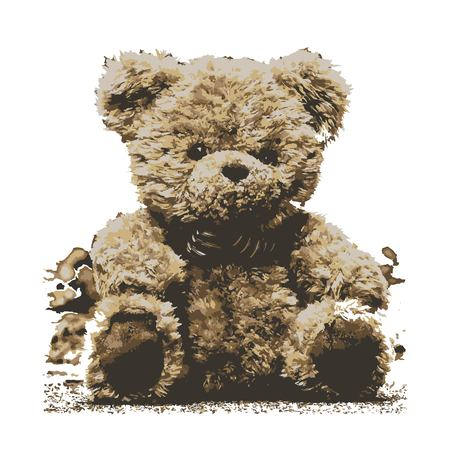 Creative drawing cuddly. Art inspires people. This drawing of a teddy is a great design for the graphic design. Artistically inspired the illustration.