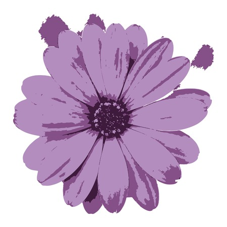 Creative drawing flower. Art inspires people. This drawing of a flower is a great design for the graphic design. Artistically inspired the illustration.