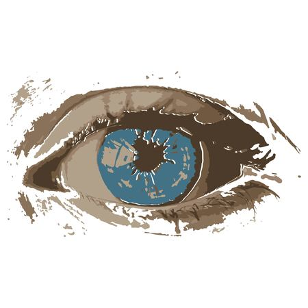 Creative drawing eye. Art inspires people. This drawing of an eye is a great design for the graphic design. Artistically inspired the illustration.