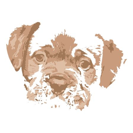 Creative drawing Dogue de Bordeaux. Art inspires people. This drawing of a dog is a great design for the graphic design. Artistically inspired the illustration.