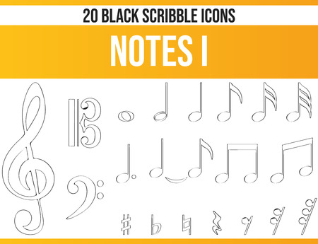 Black pictograms / icons on the subject notes. This icon set is perfect for creative people and designers who need the theme music in their graphic designs.