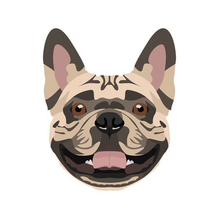 Illustration French Bulldog | For all Dog owners. What you love about his dog? Puppy dog eyes, wagging tail, smiling, barking. The French Bulldog is a man's best friend.