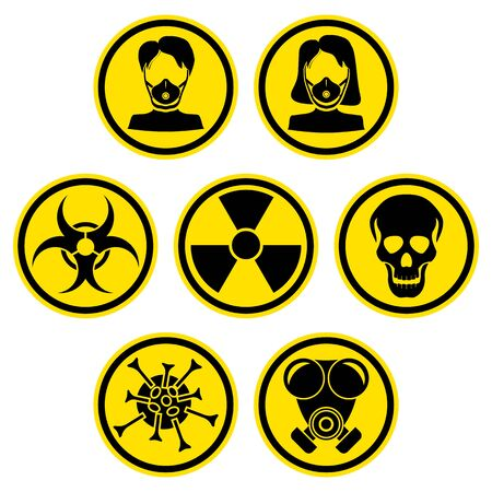 The graph shows a set of warning signs at a deadly epidemic. The illustration is perfect for graphic designs that have the theme pandemic.