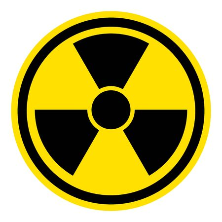 The graph shows a warning sign radioactivity. The illustration is perfect for graphic designs that have the theme pandemic, epidemic and viruses.