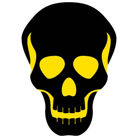 The graph shows a skull. The illustration is perfect for graphic designs that have the theme pandemic, epidemic and viruses. Archivio Fotografico - 144211882
