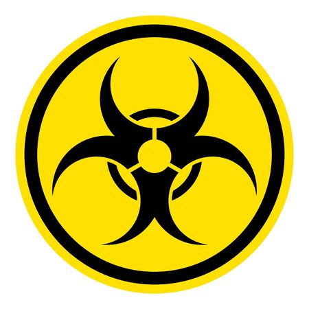 The graph shows a warning sign Biohazard. The illustration is perfect for graphic designs that have the theme pandemic, epidemic and viruses. Archivio Fotografico - 144211887