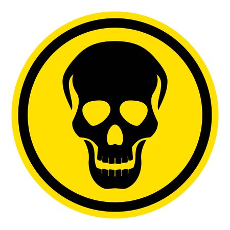 The graph shows a warning sign skull. The illustration is perfect for graphic designs that have the theme pandemic, epidemic and viruses.