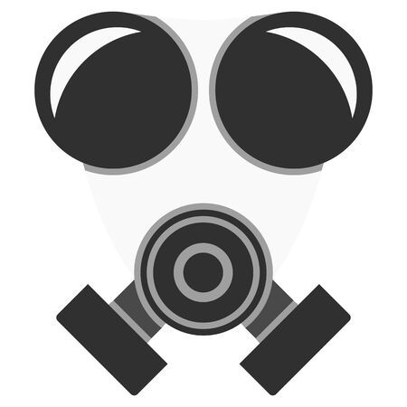 A graphic of a respirator used on construction sites or in hospitals. The mask keeps out all viruses, bacteria and pollutants. Archivio Fotografico - 145426904