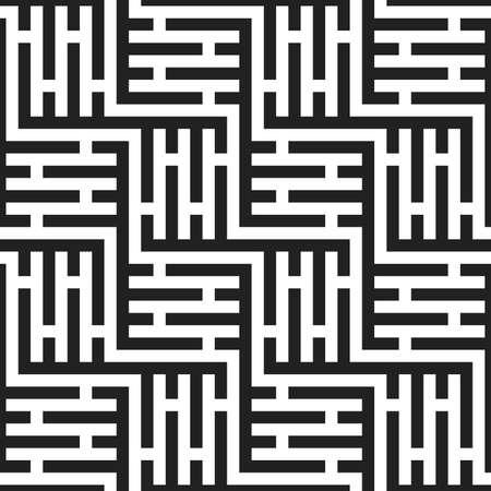 seamless monochrome labyrinth pattern texture element