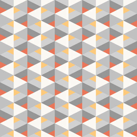 seamless geometric recurring colorful triangle pattern texture element, red and yellow with grayscale elements Ilustrace