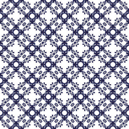 seamless blue pixel pattern texture element on white background Reklamní fotografie