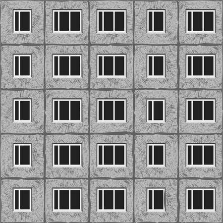soviet architecture grey unified panel house pattern texture element. 向量圖像