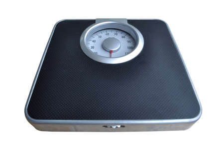 Bathroom weight scale on white background Stock Photo - 9130543