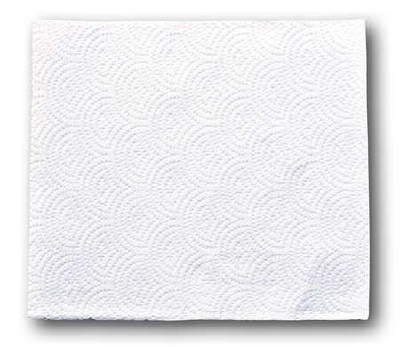papel higienico: Papel de seda blanco sobre fondo blanco