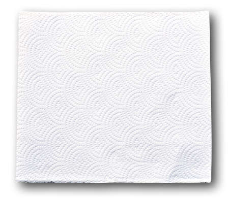 soft tissue: White tissue paper on white background