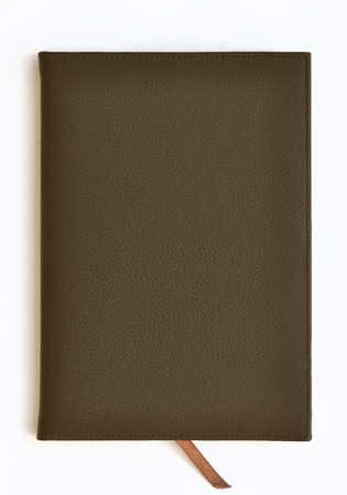 Dark brown leather notebook