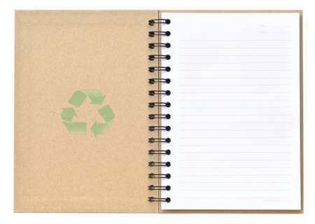 Recycle notebook with recycle symbol photo