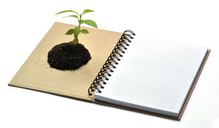 Concept picture of recycle notebook for save environment Stock Photo - 9524961