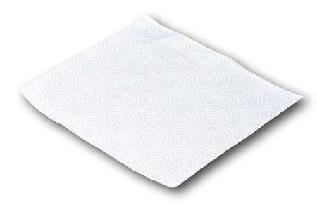 White tissue paper on white background
