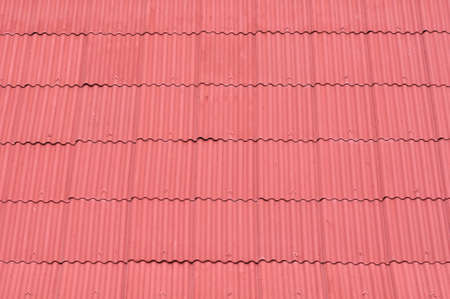 Texture of red roof zinc photo