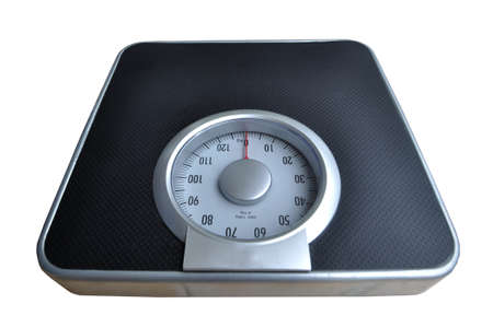 Bathroom weight scale on white background Stock Photo - 9657565