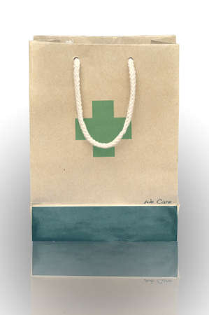 Medicine bag made from recycle paper with shadow photo