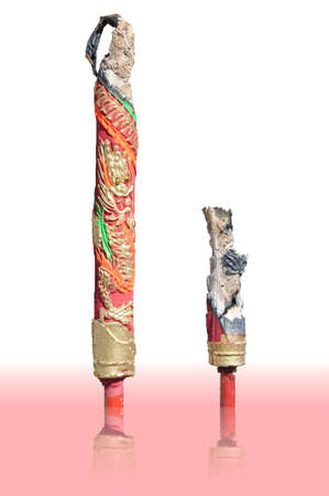 Red big incense with gold dragon pattern Stock Photo - 9978977