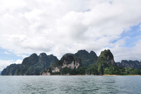 Beautiful view of limestone mountain in Thailand Stock Photo
