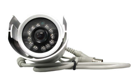 Security camera on white background