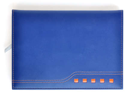 Dark blue leather notebook photo