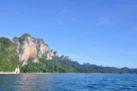 limestone: Beautiful limestone mountain with blue sky