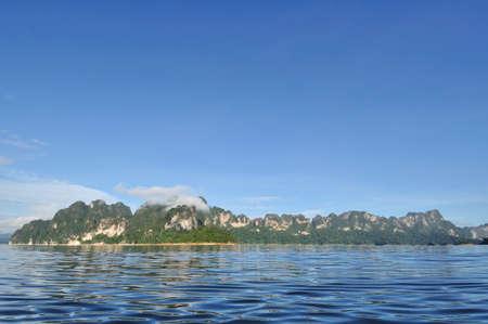 Beautiful limestone mountain with blue sky